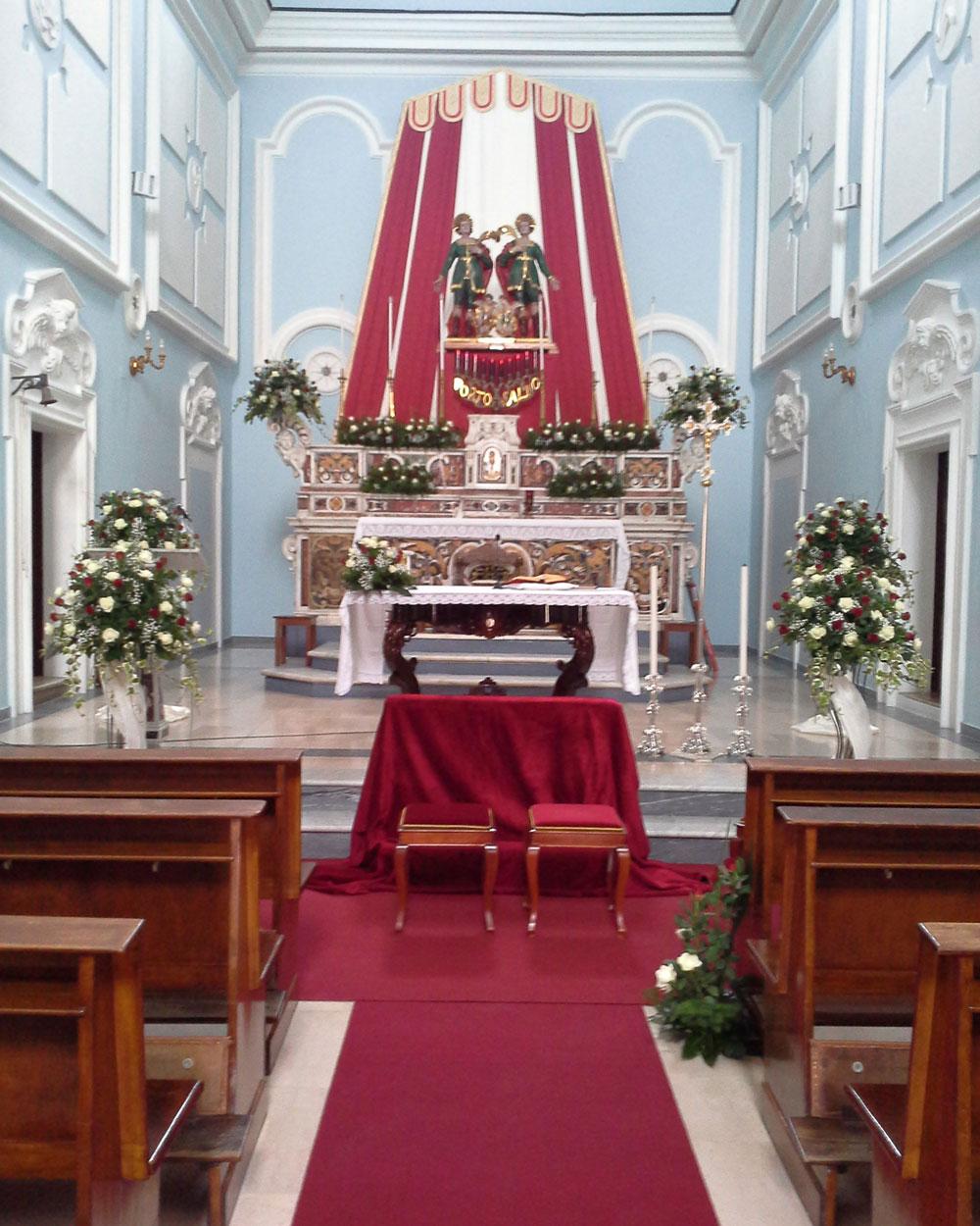 Addobbo Chiesa SS. Cosma e Damiano 1