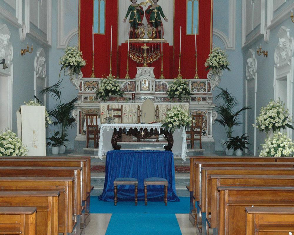 Addobbo Chiesa SS. Cosma e Damiano 2