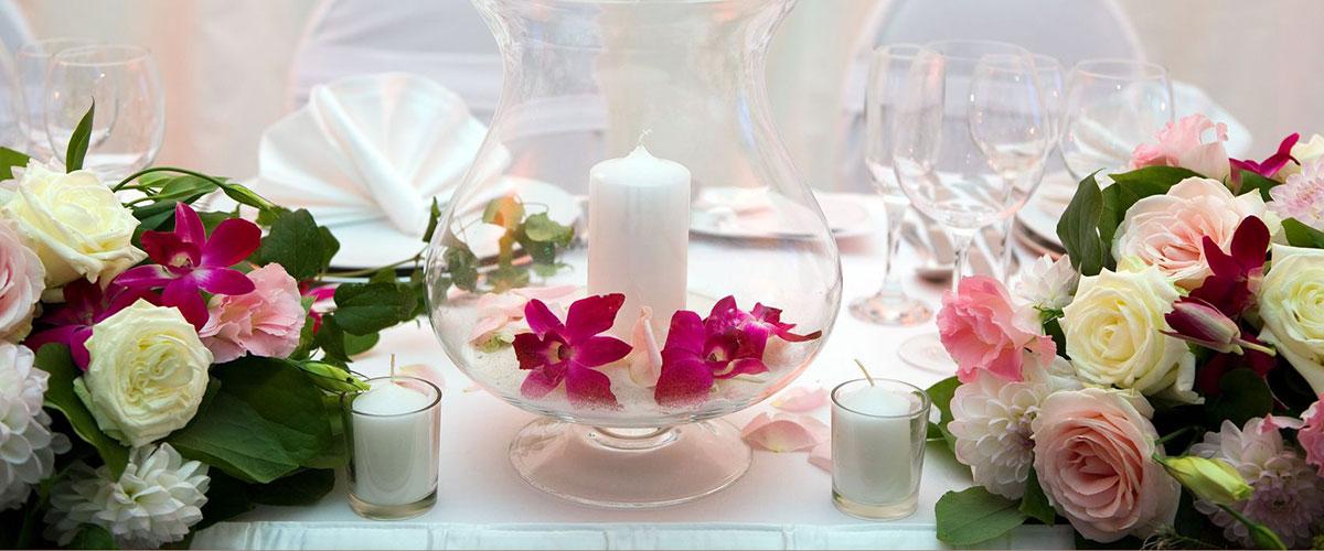 Centrotavola Matrimonio Azzurro : Addobbi matrimonio centrotavola gaeta la serretta